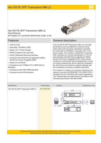 Ha-VIS FE SFP Transceiver MM L2