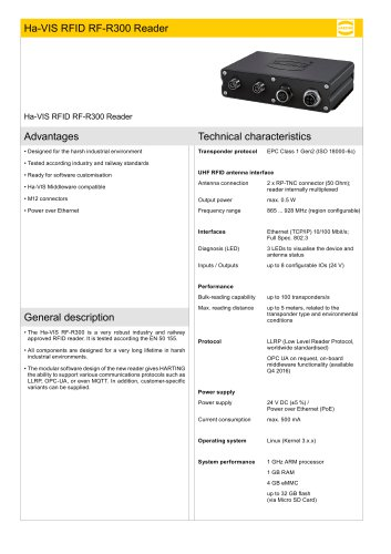 Ha-VIS RFID RF-R300 Reader