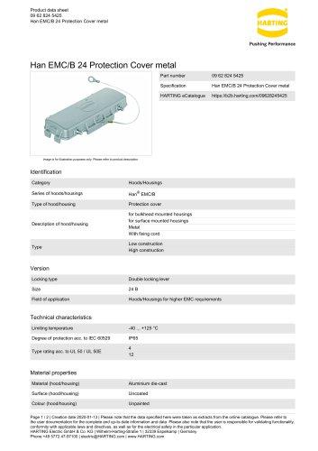 Han EMC/B 24 Protection Cover metal