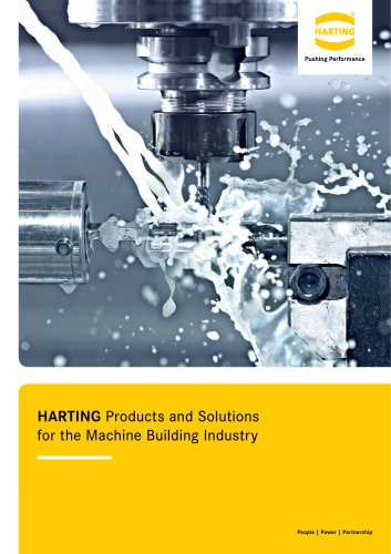 HARTING Products and Solutions for the Machine Building Industry