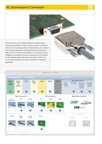 Subminiature D Connectors