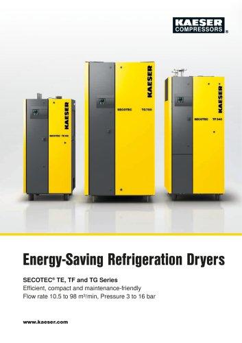 Energy-Saving Refrigeration Dryers SECOTEC® TE, TF and TG Series