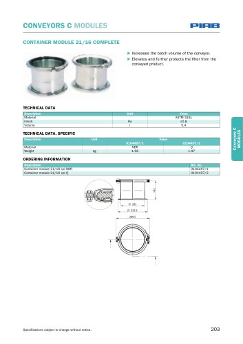 Conveyors C- modules, accessories