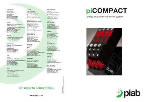 piCOMPACT ? Energy efficient micro-ejector system