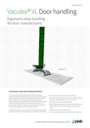 Vaculex® VL Door handling