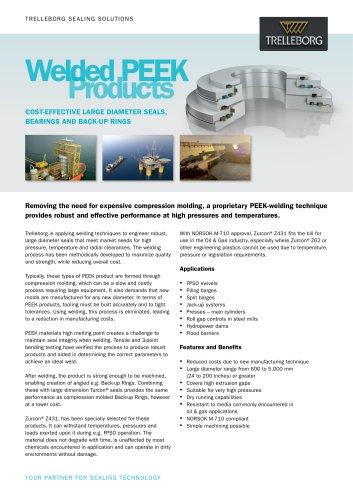 Welded PEEK Products