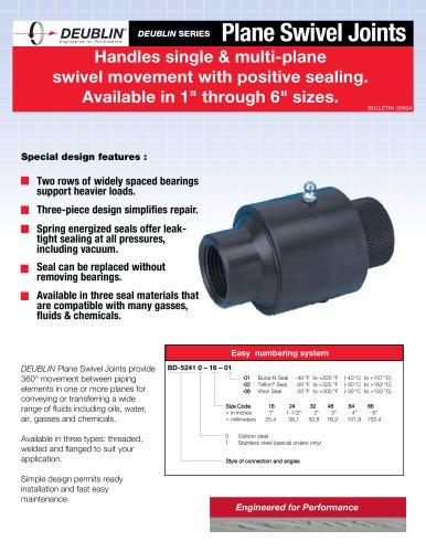 Handles single & multi-plane swivel movement with positive sealing