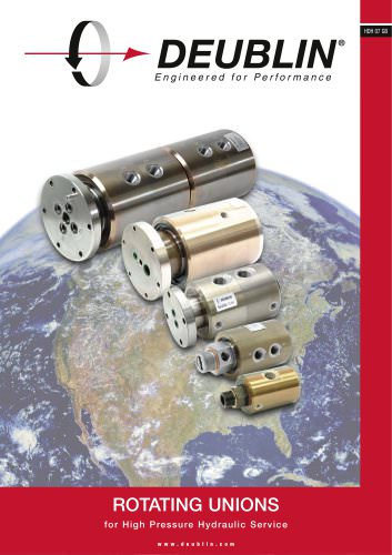 Rotating Unions for High Pressure Hydraulic Service