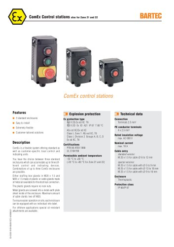 ComEx Control stations also for Zone 21 and 22