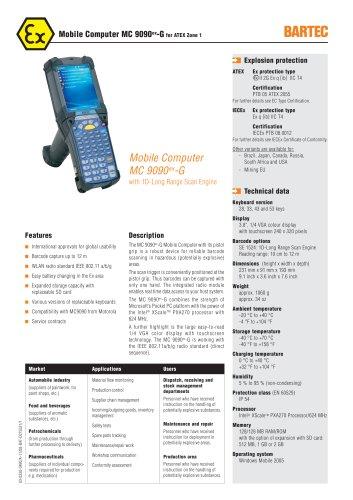 Mobile Computer MC 9090ex-G for Zone 1