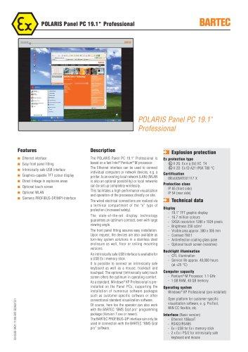 """POLARIS Panel PC 19.1"""" Professional"""