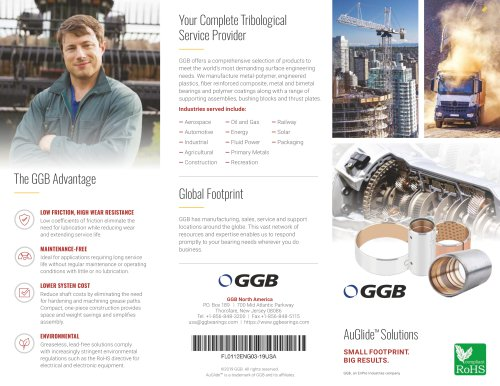 GGB AuGlide Lead-free & Machinable Bearing Solutions