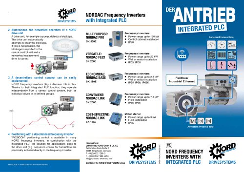 The drive with integrated PLC - NORD 4.0 (S4900)