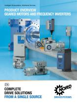 GEARED MOTORS AND FREQUENCY INVERTERS