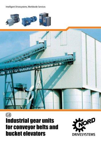Industrial gear units for conveyor belts and bucket elevators - Unit 25