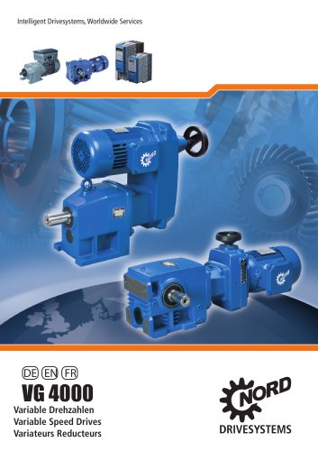 mechanical variable speed Drives 50Hz, metric