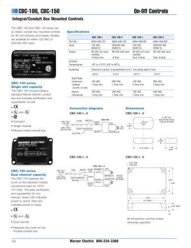 Clutch/Brake Controls