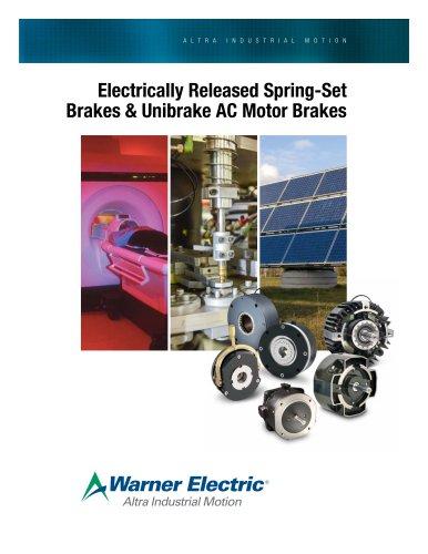 Electrically Released Spring-Set Brakes & Unibrake AC Motor Brakes
