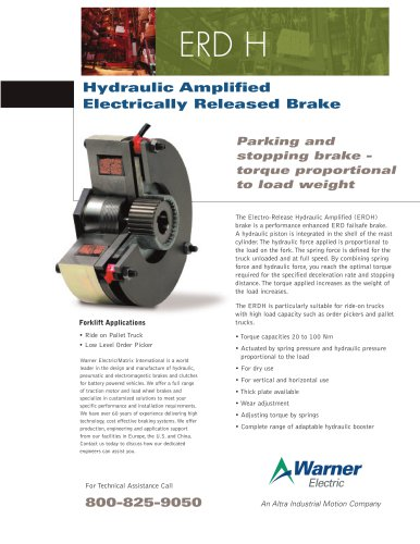 ERD H | Hydraulic Amplified Electrically Released Brake