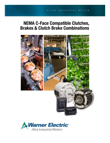 NEMA C-Face Compatible Clutches, Brakes & Clutch Brake Combinations