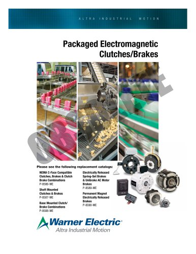 Packaged Electromagnetic Clutches/Brakes