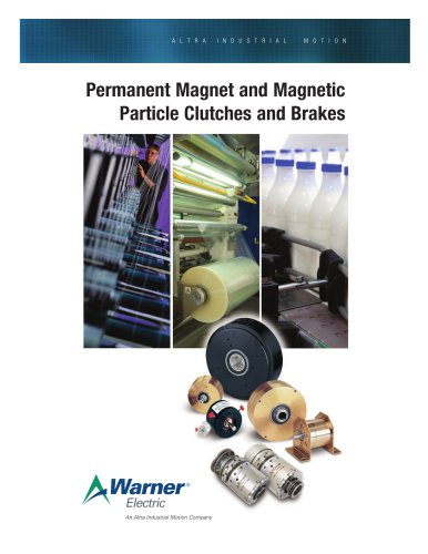 Permanent Magnet and Magnetic Particle Clutches and Brakes