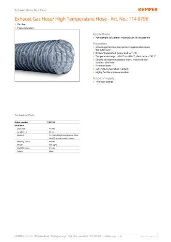 Exhaust Gas Hose/ High Temperature Hose - Art. No.: 114 0796