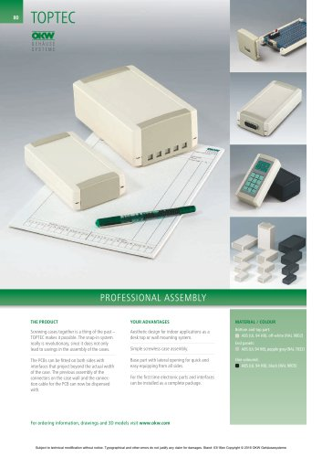 TOPTEC   Catalogue documents