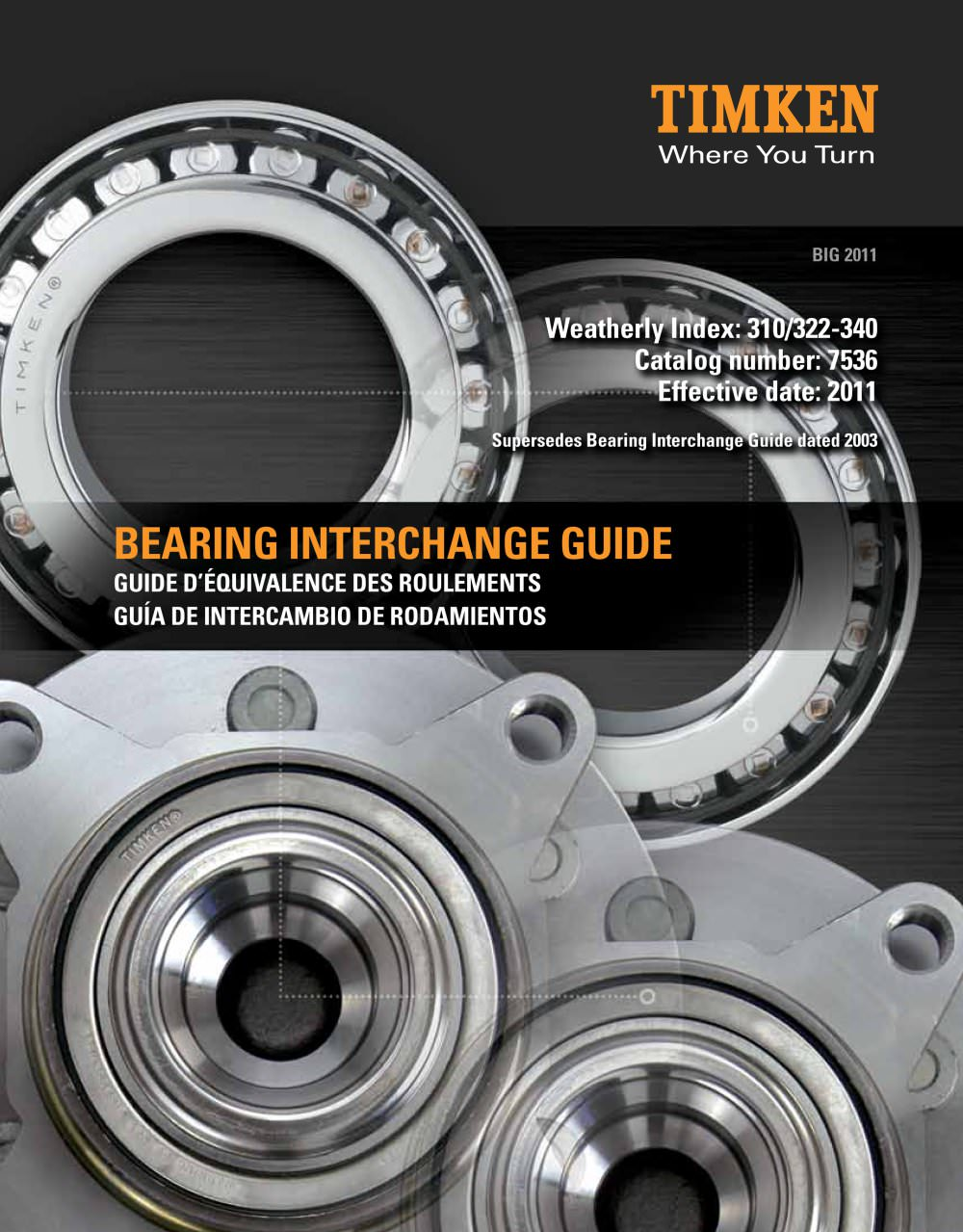 Bearing interchange guide - TIMKEN - PDF Catalogs | Technical