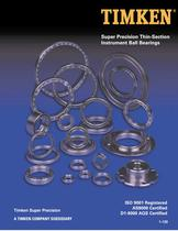 Super Precision Thin-Section Instrument Ball Bearings Catalog - 1