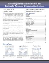 Super Precision Thin-Section Instrument Ball Bearings Catalog - 2