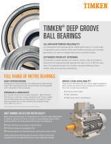 TIMKEN®  DEEP GROOVE BALL BEARINGS - 1