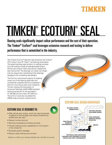TIMKEN® ECOTURN® SEAL