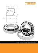 TIMKEN® METRIC TAPERED ROLLER BEARINGS - 1