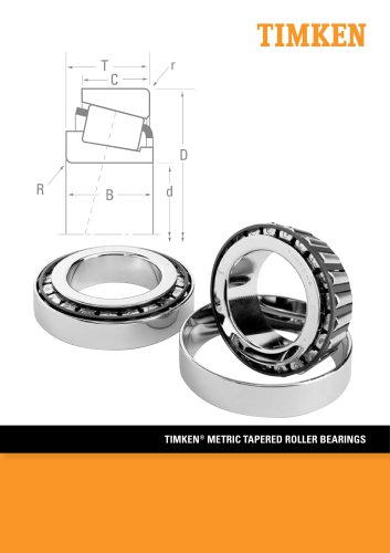 TIMKEN® METRIC TAPERED ROLLER BEARINGS