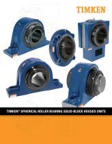 Timken Spherical Roller Bearing Solid-block Housed Unit Catalog - 1
