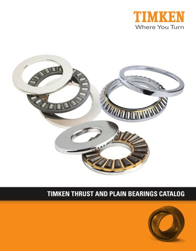 Timken Thrust & Plain Bearings Catalog