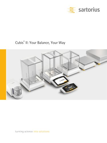 Cubis®  II: Your Balance, Your Way