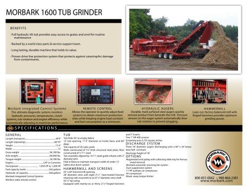 1600 Tub Grinder