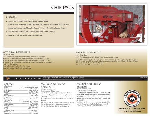 48″ & 58″ Chip Pacs