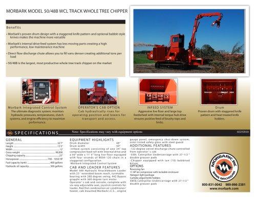 50/48B WCL Track Drum Chipper