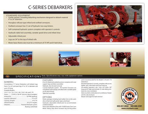 C-SERIES DEBARKERS