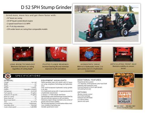 D52SPH Stump Grinder