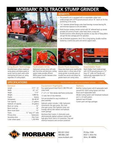 D76 track stump grinder