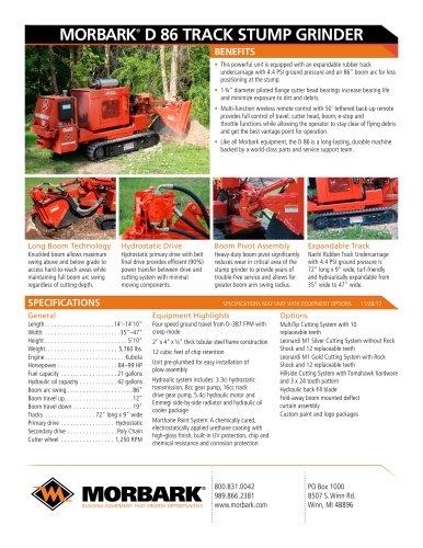 D86 track stump grinder