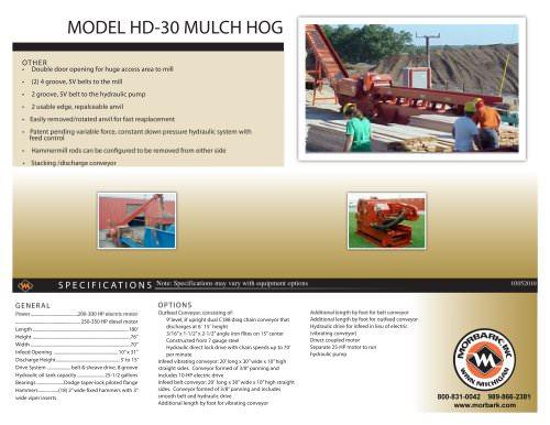 MODEL . HD-30 . MULCH . HOG