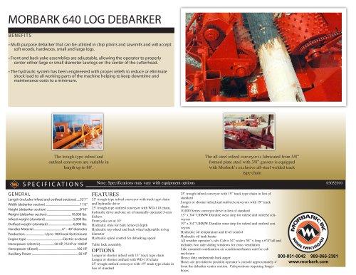 MORBARK 640 LOG DEBARKER