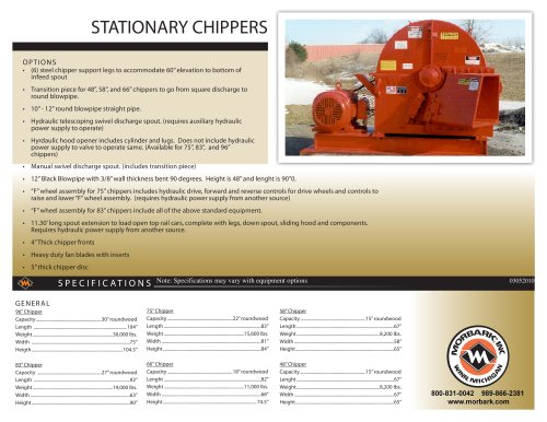 Stationary Chippers