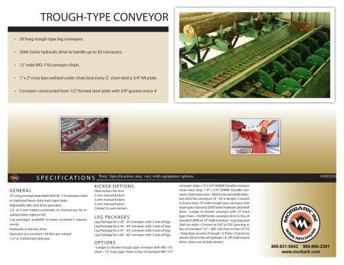 through type conveyor