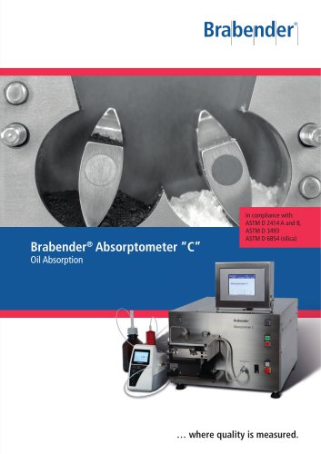 """Absorptometer """"C"""": For determining the oil absorption number (OAN) of powdery materials like carbon black and silica"""